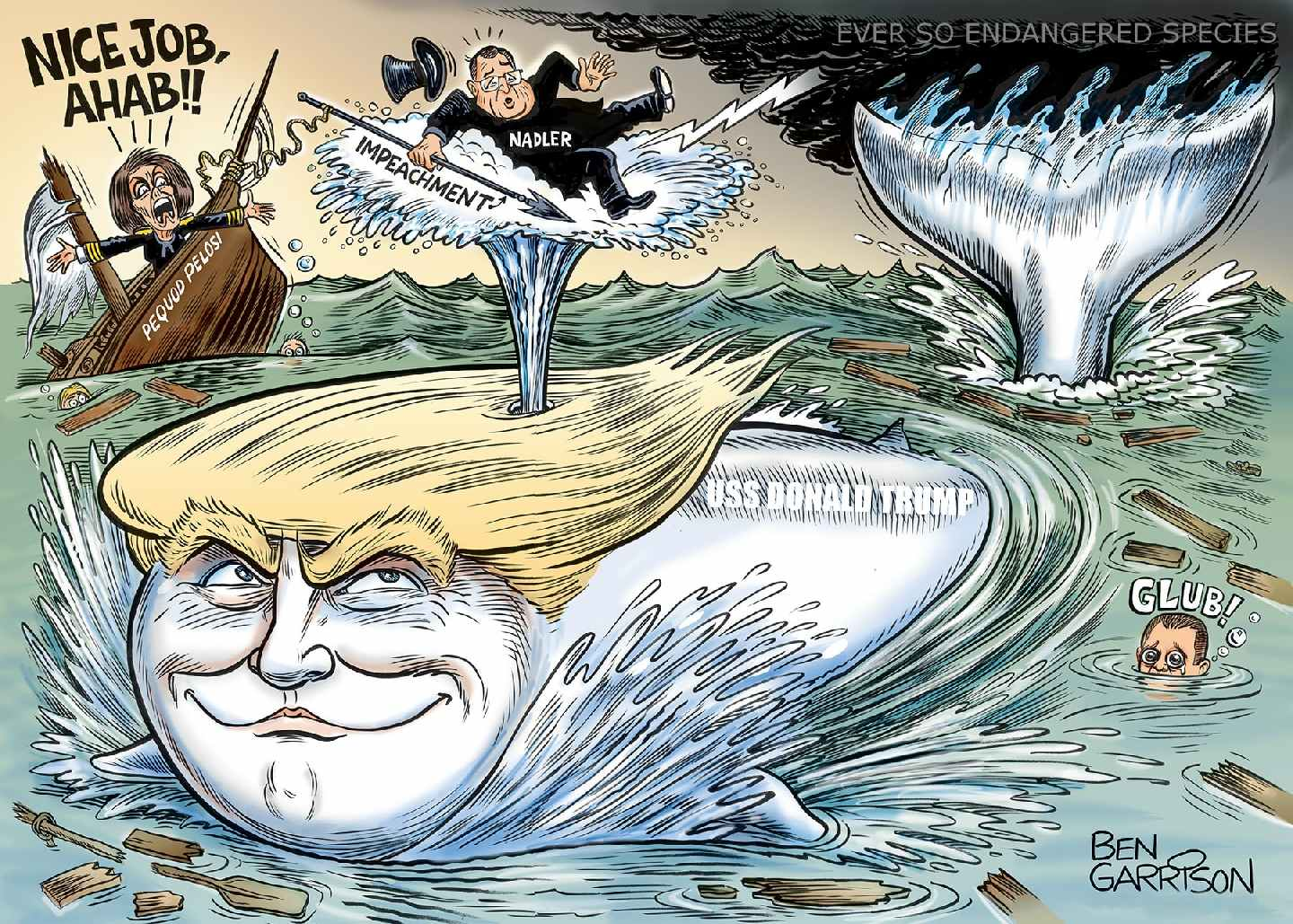Donald Trump is the big white whale in the White House